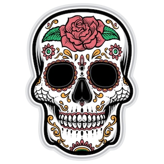 Sugarskull vector logo