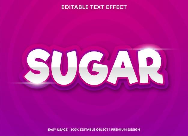 Suiker bewerkbaar teksteffect met moderne en abstracte stijl