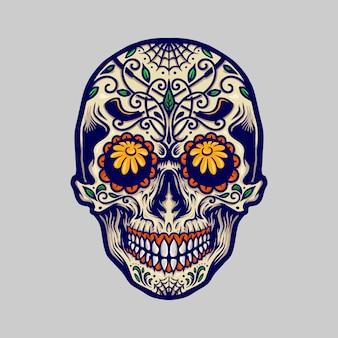Suiker schedel dia de los muertos mexico