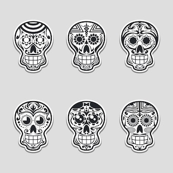 Suiker schedel vectorillustratie