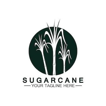 Suikerriet logo pictogram symbool vector illustratie ontwerpsjabloon