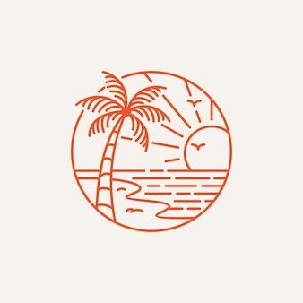 Summer beach-logo