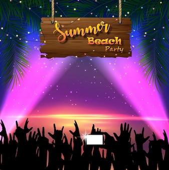 Summer beach party flyer design
