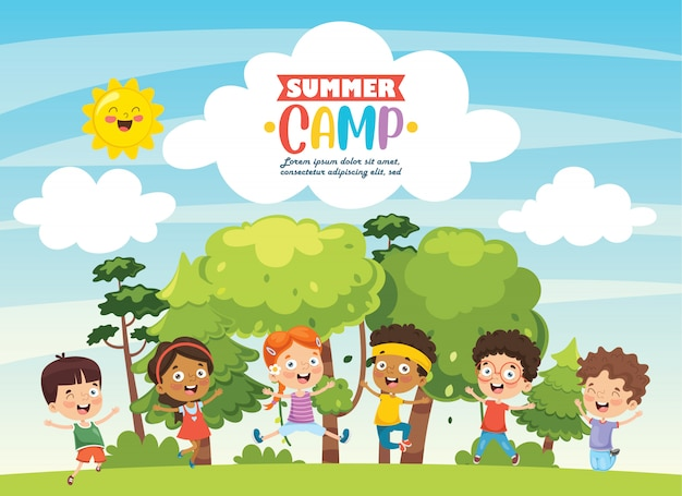 Summer camp kids