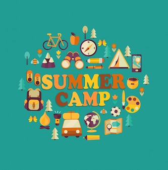 Summer camp thema.