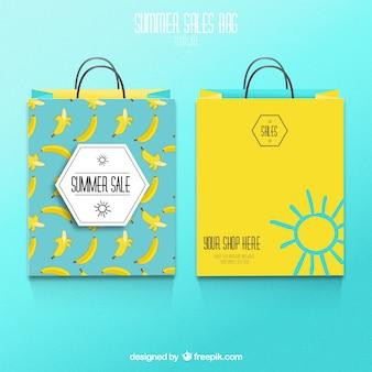 Summer verkoop boodschappentassen