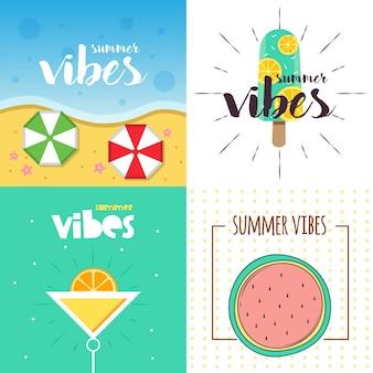 Summer vibes illustratie ontwerp