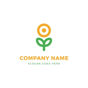 Sun flower nature logo design
