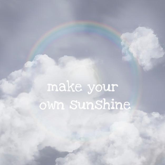 Sun halo vector sky sjabloon voor social media post