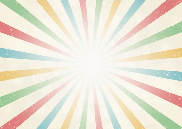 Sun ray van centrum vintage kleur achtergrond