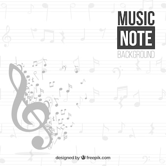 Sun treble clef achtergrond en muzieknoten
