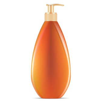 Sunblock cosmetic pump dispenser bottle