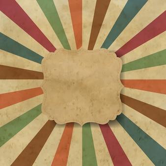 Sunburst oude achtergrond met label