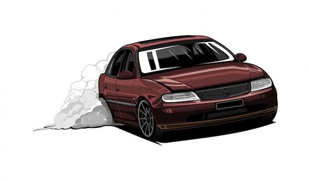 Super auto illustratie