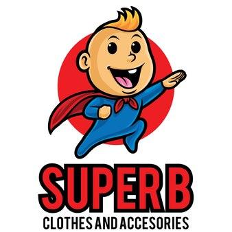 Super baby logo mascotte sjabloon