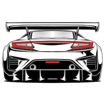 Super car illustratie