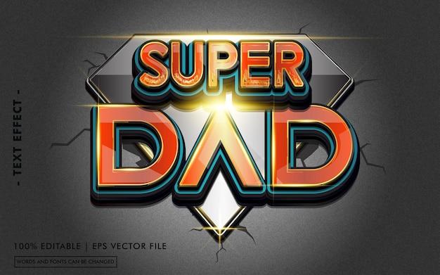Super dad teksteffectstijl