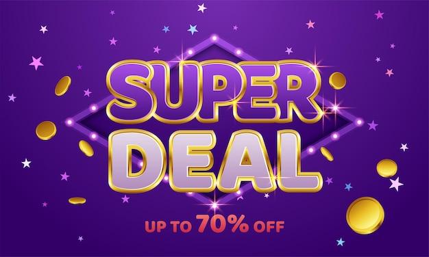 Super deal banner sjabloonontwerp