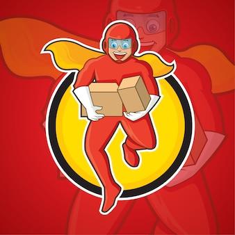 Super delivery man