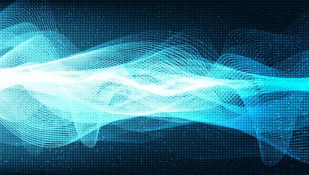 Super digitale geluidsgolf op lichtblauwe achtergrond