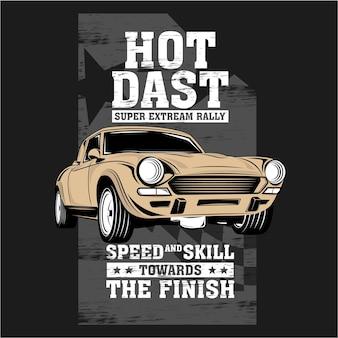 Super extreme rally, vector auto illustratie