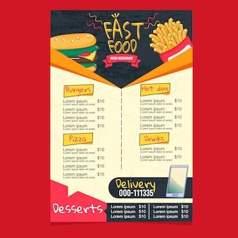 Super fast food menu restaurant