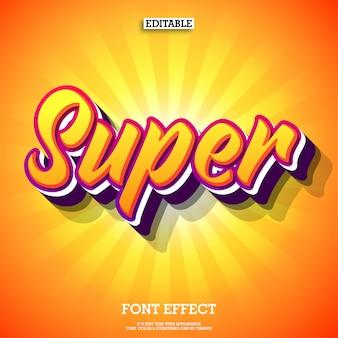 Super geweldig teksteffect met oranje kleur