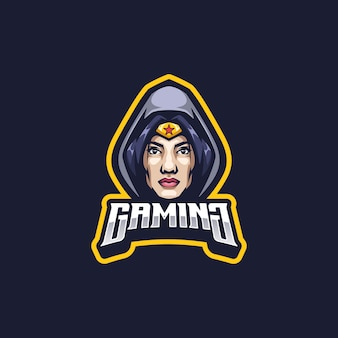 Super girl logo mascotte