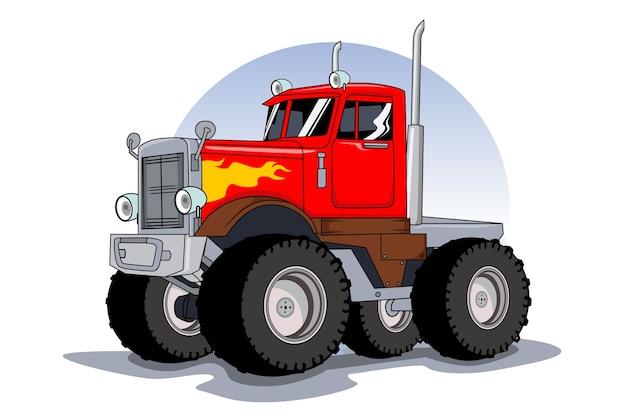 Super grote vrachtwagen illustratie