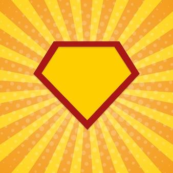 Super held stralen halftone achtergrond