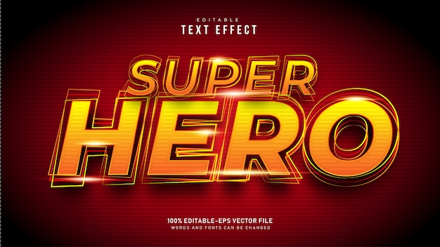 Super hero-teksteffect