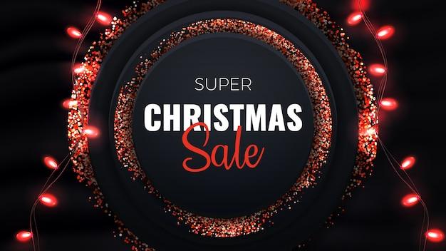 Super kerst sale banner.