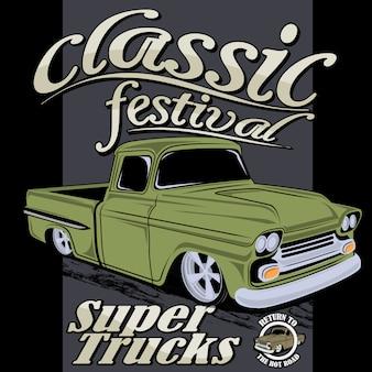 Super klassieke vrachtwagen