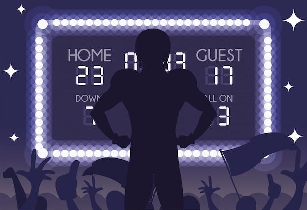 Super kom speler silhouet illustratie