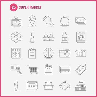 Super markt lijn pictogram