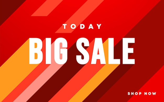 Super mega verkoop concept horizontaal banner sjabloonontwerp met 50 korting op grote korting