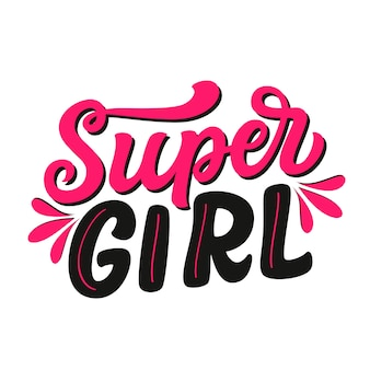 Super meisje belettering