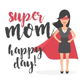 Super moeder gelukkige dag achtergrond