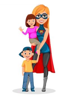 Super moeder vrouw superheld