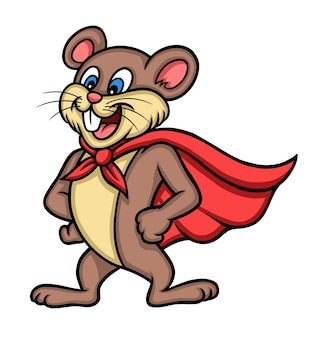 Super muis dierlijke stripfiguur