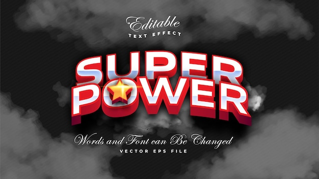 Super power vet teksteffect