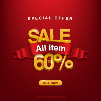 Super promo, speciale aanbieding verkoop alle items tot 60%