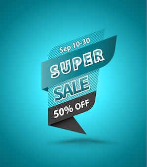 Super sale 50% korting