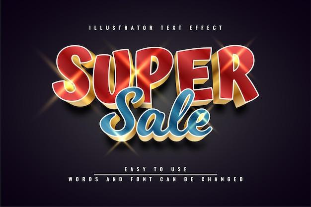 Super sale-achtergrond - bewerkbaar teksteffect
