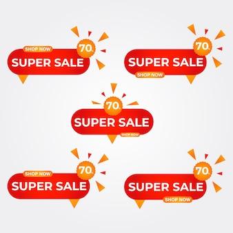 Super sale badges collectie promotiebadges