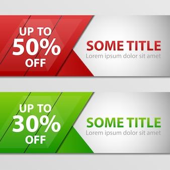 Super sale, banner, -50%, -30% korting