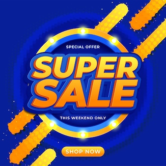 Super sale banner-tempelontwerp voor media-promoties
