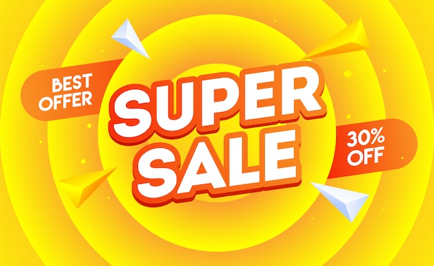 Super sale-banner.