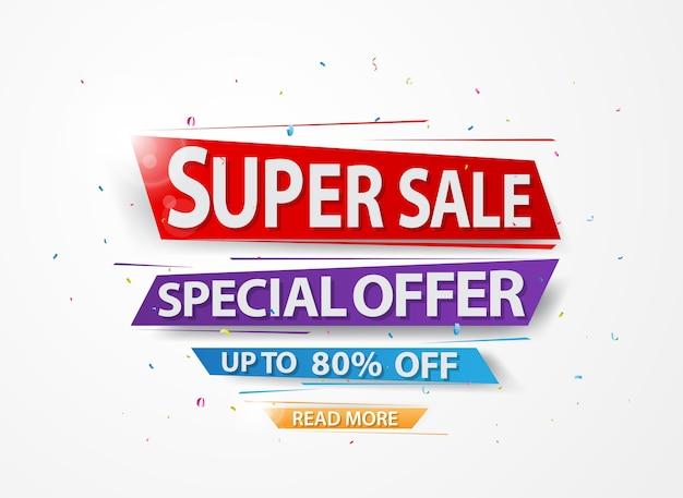 Super sale en speciale aanbieding