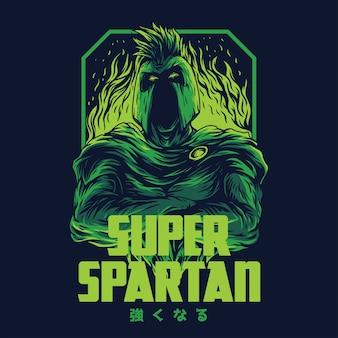 Super spartan remastered illustratie